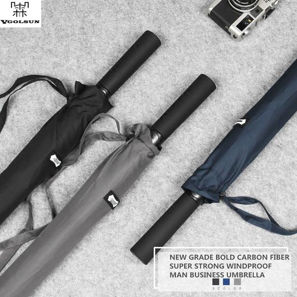 VGOLSUN Golf Umbrella 114CM Diameter Super Big Bold Full Carbon Fiber Frame Strong Windproof Long Handle Man Business Umbrella