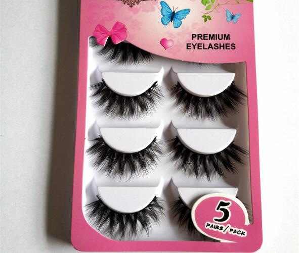 Five pairs of 3D eyelashes