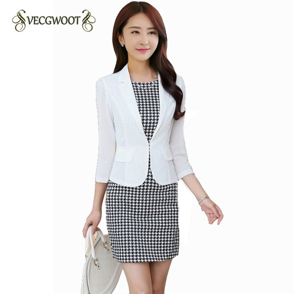 2018New Spring Women Blazer Jacket Fashion Slim Three quarter sleeve Suit Coat Casual Short Outerwear Thin Korean Jacket WLX1065