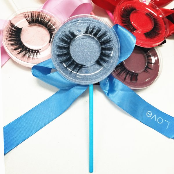 high quality false eyelash 3D strip silk lashes thick fake faux eyelashes accept private label on stickers