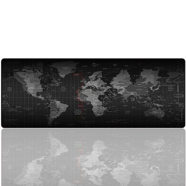 top popular Large Gaming Mouse Pad - Portable Large Desk Keyboard Mat for Laptop - Non-slip Rubber Base 27.5x11.8x0.079IN Multicolor (Map) 2021