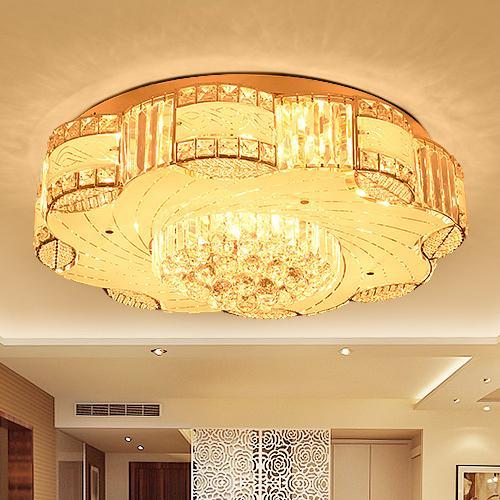 Современные светодиодные потолочные люстры роскошные благородные творческие круглые хрустальные люстры светильники для гостиничной виллы гостиной спальни потолочные люстры
