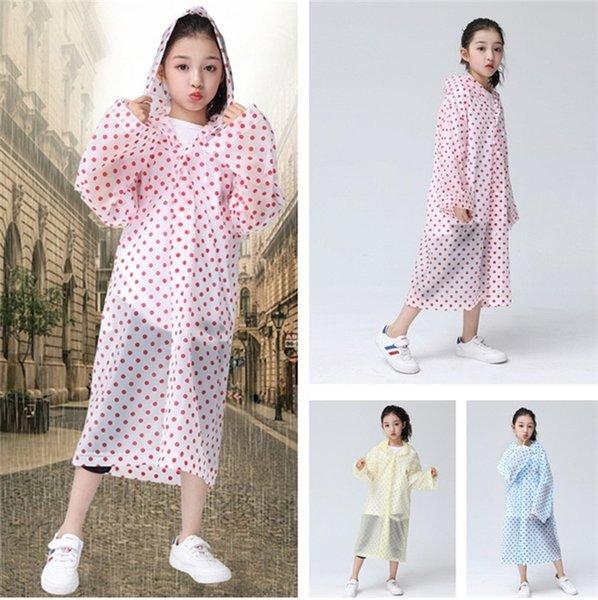 Impermeabile per bambini nuovo stile Impermeabili trasparenti Poncho Cappotto antipioggia impermeabile per uso ambientale Leggero impermeabile T5I020