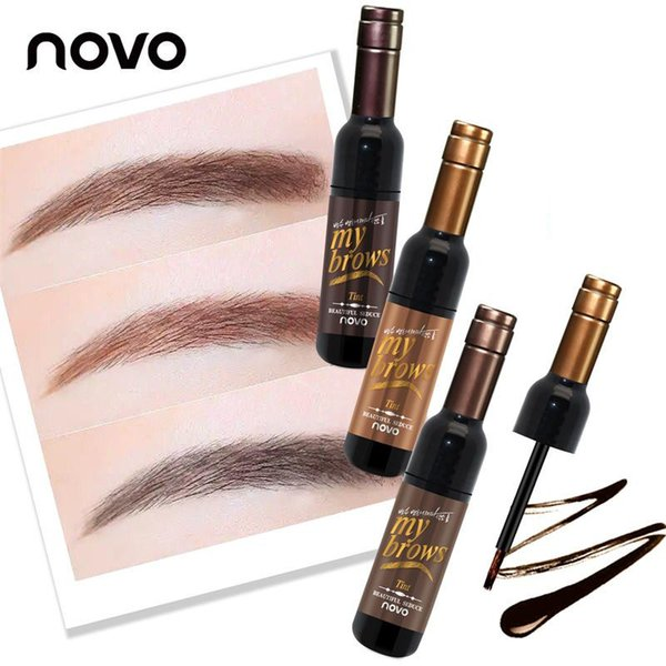 NOVO Eye Brow Makeup 3D Peel Off Eyebrow Gel Tattoo Tint Eye Makeup Long-lasting Waterproof Dye Eyebrow Tint Tattoo Mascara