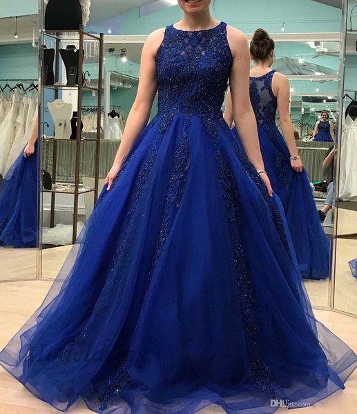 ZYLLGF Royal Blue Prom Dresses Ball