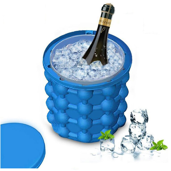 Ice Cube Maker Ice Genie irlde Ice Cube Maker Buckets Kitchen Tools The Revolutionary Space Saving Outdoor DHL Shipping