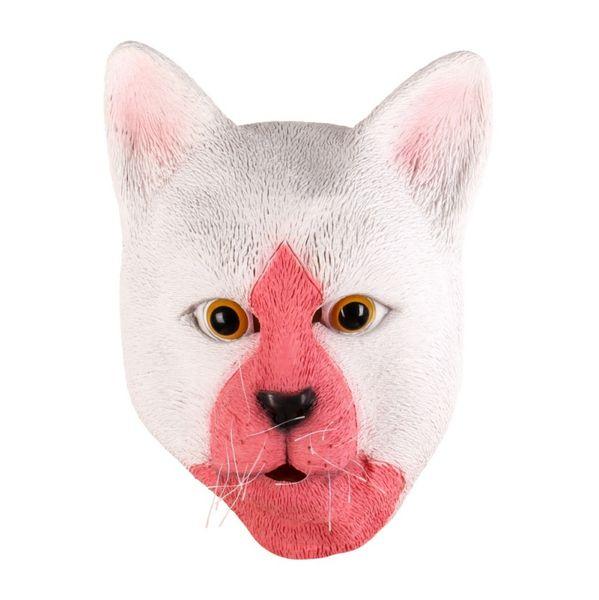 Full Head Adult Mask Lady Cat Head Mask Divertido Latex Transpirable Realista Loco Fiesta de Goma Cosplay Animal de Halloween
