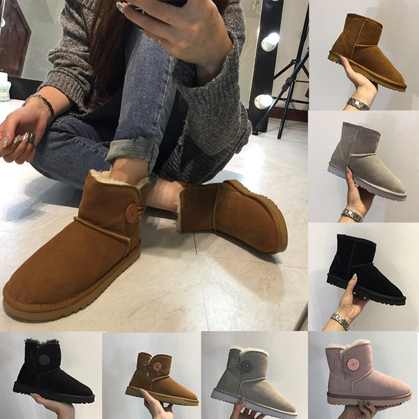 2018 Hot Sale Winter WGG Women's Australia Classic kneel half Boots Ankle boots Black Grey chestnut gift for Women girl boots size 35-40