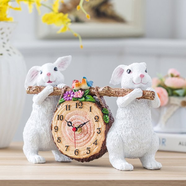 #a table clock desk clock European style bedside Little Bear Ursa Minor mute for display furnishing articles