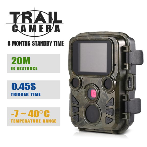 2018 12MP 1080P Mini Trail Camera H501 Hunting Camera Outdoor Wildlife Scouting Camera 0.45s Trigger IP66 Waterproof Video Recorder