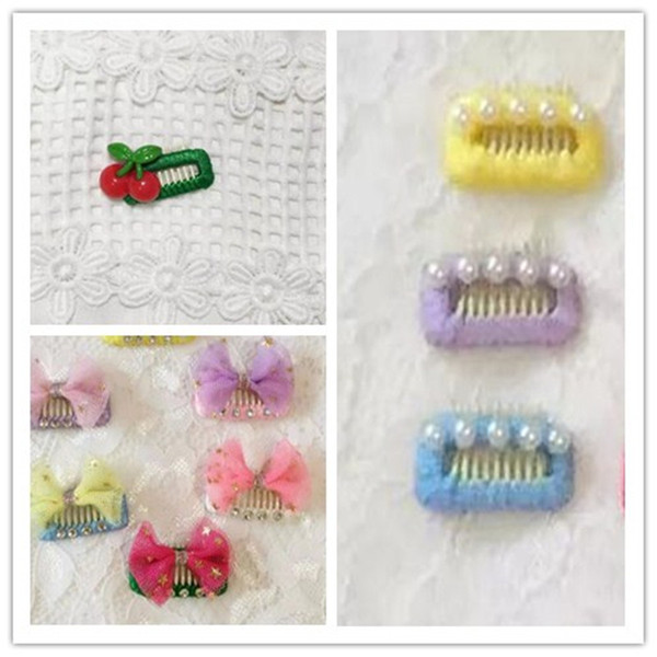 Dog Grooming Wedding Hair Accessories Pet dog bb clip dog square teddy Yorkshire hair clip bangs pin comb clip 30PCS/LOT
