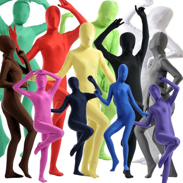 Adult Women Kids Lycra Spandex Cosplay Halloween Party Show Full Body Zentai Jumpsuit Bodysuit Suit Unitard Plugsuit