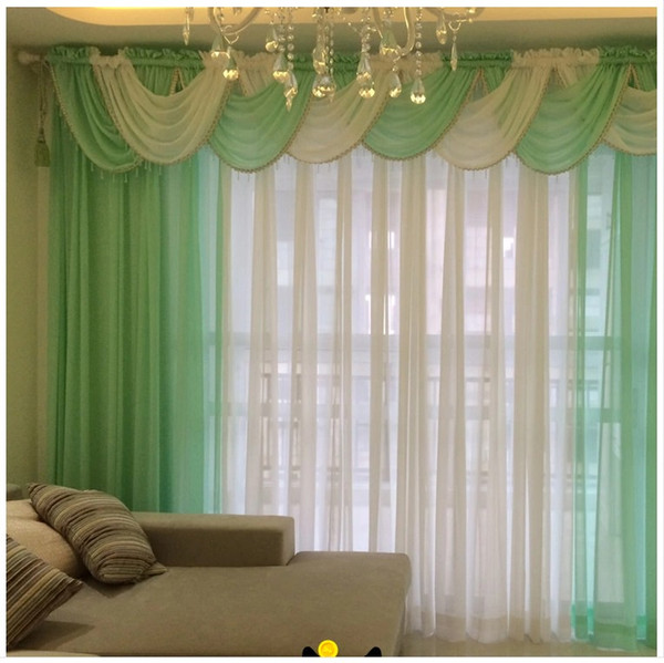 2019 Curtains For Living Room Modern Sheer Kitchen Cortinas Luxury Tulle  Drape Panel And Waterfall Valance Hilton Window Voile From Bowstring,  $41.65 ...