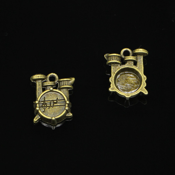 67pcs Zinc Alloy Charms Antique Bronze Plated stopwatch watch drum set Charms for Jewelry Making DIY Handmade Pendants 16*14*4mm