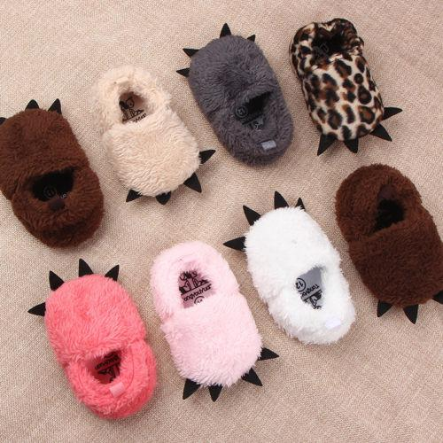 2018 Brand New Lovely Infant Baby Boy Girl Shoes Booties Slippers Soft Sole Crib Shoes Prewalker Cute Fluffy Paws 0-18M