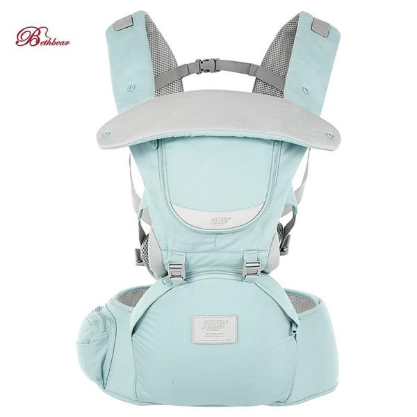 Bethbear 3 In 1 Hipseat Marsupio ergonomico 0 - 36 mesi Fibbia Confortevole infantile Mesh Wrap Infant Zaino per bambini