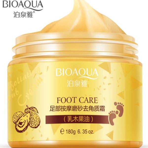 Dropshipping Nuovo BIOAQUA 24K GOLD Crema di burro di karitè Peeling Renewal Mask Baby Foot Skin Smooth Care Cream Maschera esfoliante del piede