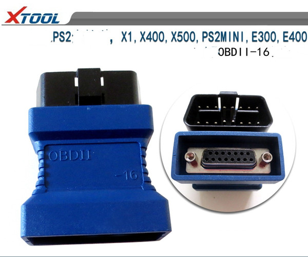 For Xtool PS2 OBDII-16 Connecter for X1 PS2MINI E300 E400 X400 X500 OBD II OBD 2 OBD-II Adaptor Diagnostic OBDII Obd2 Adapter