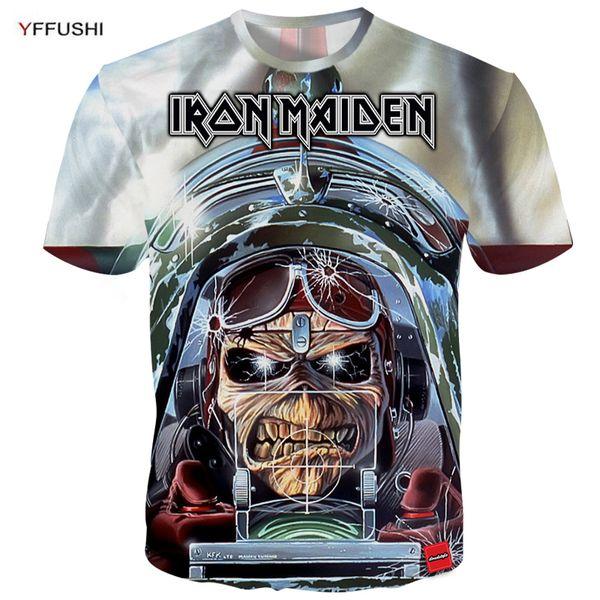 YFFUSHI 2018 3d t-shirt Männer Iron Maiden Band Serie 3d Druck Kurzarm T-shirts Streetwear Hip Hop Männer Plus Größe 5XL