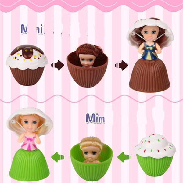 Mini Cupcake Doll Fruits Aroma Cake Princess Dolls Reversible Magic Toys Popular For Girls Birthday Originality Gifts High Quality 3 8xr Z