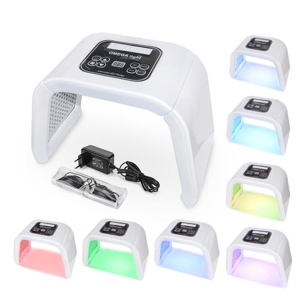 7 Color OMEGA Light LED Photon Therapy Machine Facial LED Mask PDT Light For Skin Rejuvenation Acne Removal salon SPA Device