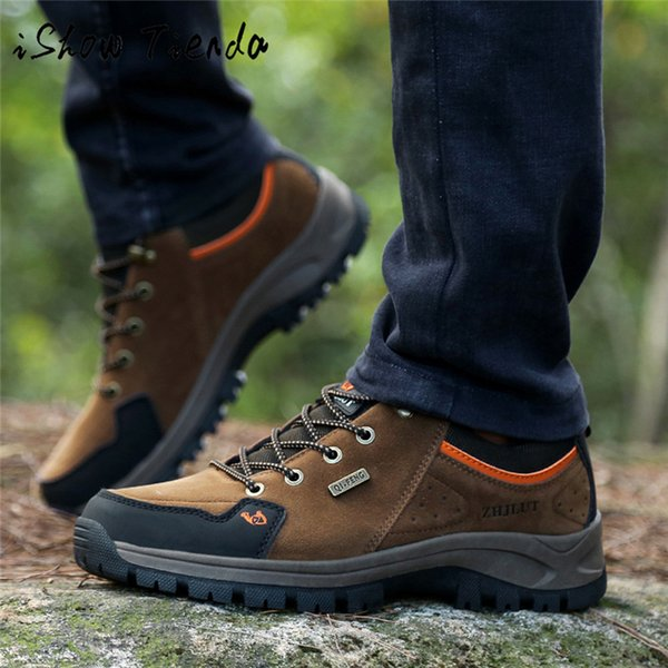 Hiking Shoes For Men Mountain Climbing Shoes Quality Outdoor Trekking Breathable Hiking Hunting Boots Climbing