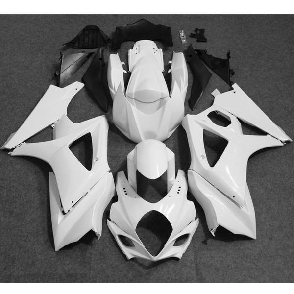 ALLGT motocicleta sin pintar kit de carenado completo blanco carrocería para Suzuki GSXR1000 K7 2007 2008 moldes de inyección moldeado