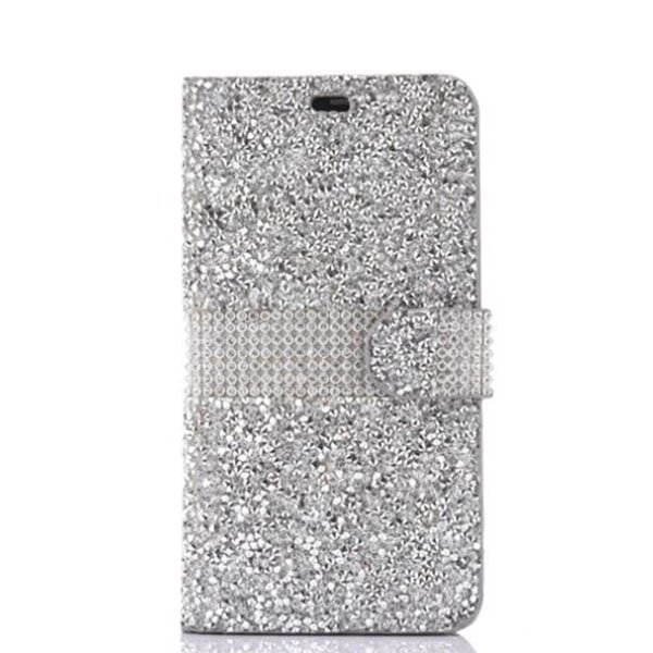Pour iPhone 8 Galaxy ON5 Portefeuille Diamond Case iPhone 6 Cas LG K7 Stylo Bling Bling Cas Cristal PU En Cuir Fente Pour Carte Opp Sac 100pcs