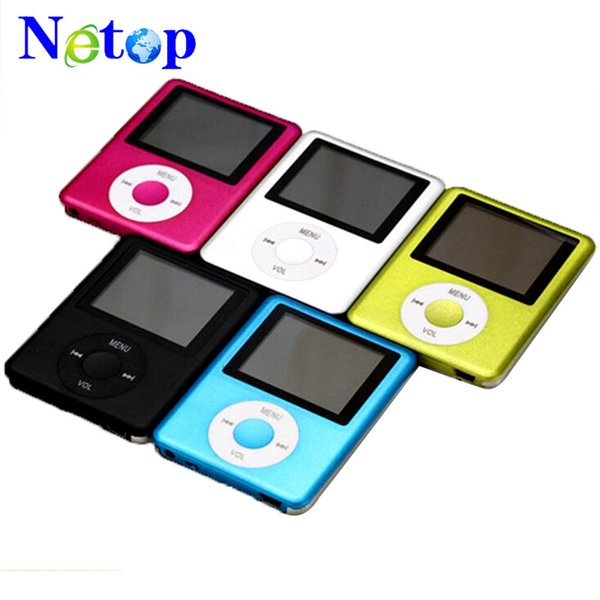 "Netop 3th Slim 1.8""LCD flash MP3 MP4 Player FM Radio Player support tf card player 5 colors"