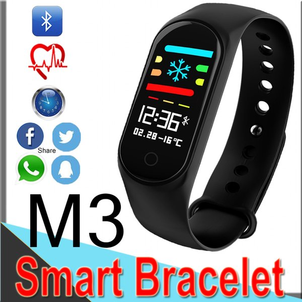 M3 mi Band 3 Smart Sport Bracciale Fitness tracker Guarda cardiofrequenzimetro Impermeabile Bluetooth Smart Bands Cell Phone Health Wristband X6