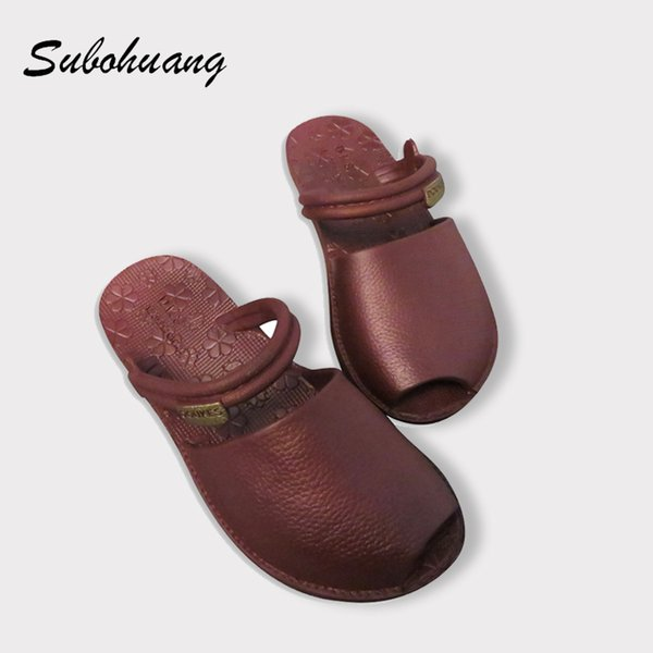 Brand Quality Beach Slippers Women Summer Non-slip Soft PU Leather Open-toed Fashion Slippers Outside 2017 Hot Sale Slides Shoes