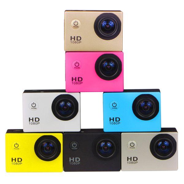 Envío gratis DHL-2019 Nuevo estilo libre 2 pulgadas LCD 1080P Cámara de acción completa 30 metros impermeable DV cámara casco deportivo SJcam DVR0001