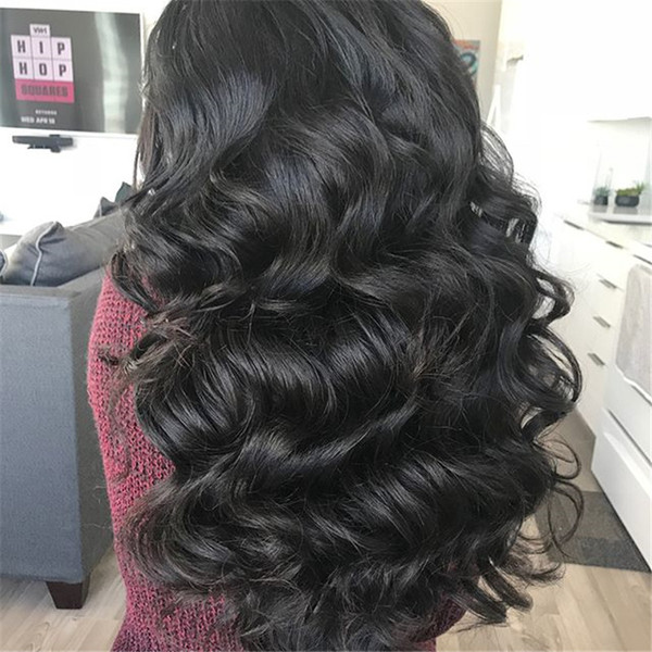 Hot sale Malaysia 100% unprocessed human virgin natural color full lace lace front wig glueless full lace wig for black women baby hair