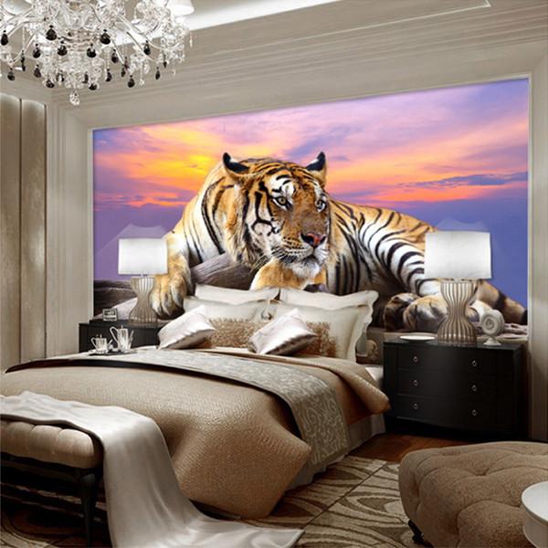 Großhandel Benutzerdefinierte Fototapete Tiger Animal Tapeten 3D Große  Wandbild Schlafzimmer Wohnzimmer Sofa TV Hintergrund 3D Wandbilder  Wallpaper ...