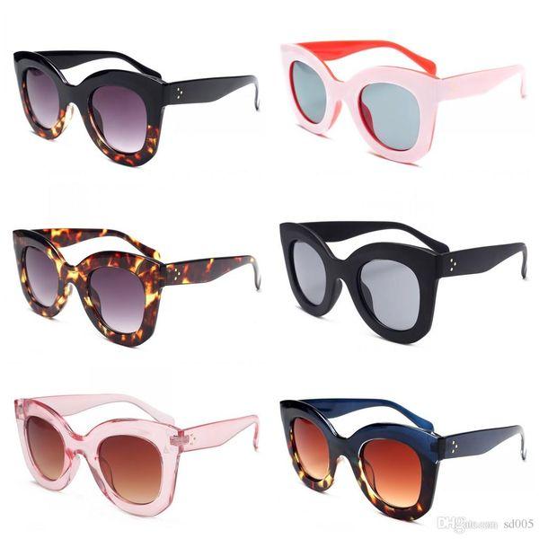 Explosion Proof Lens Sunglasses Fashion UV400 Protection Eyeglasses Cat Eye Rice Nail Sun Glasses Men Women 9 5sj B