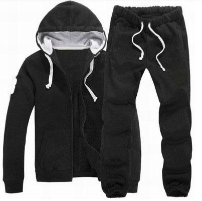 US Brand Men Hooded Polo Tracksuits American Fashion Man Solid Sportwear Big Pony Embroidery Jumpsuits Jogging Running Sportsuit Coat Pants