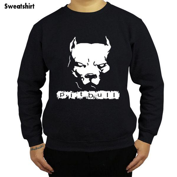 Transporte da gota PITBULL Americano Pit Bull Spiked Collar Dog shubuzhi homens camisola outono o-pescoço hoodies algodão casual legal com capuz