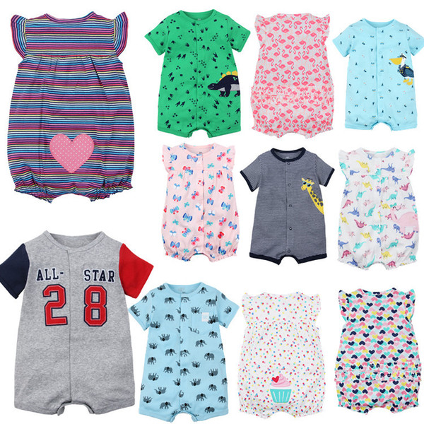 8ae8ee51a3765 2019 Baby Cartoon Rompers Summer Baby Jumpsuits Girl Clothes Girl Dress  Cotton Newborn Baby Clothes Roupas Bebe Infant Jumpsuits Kids Clothes From  ...