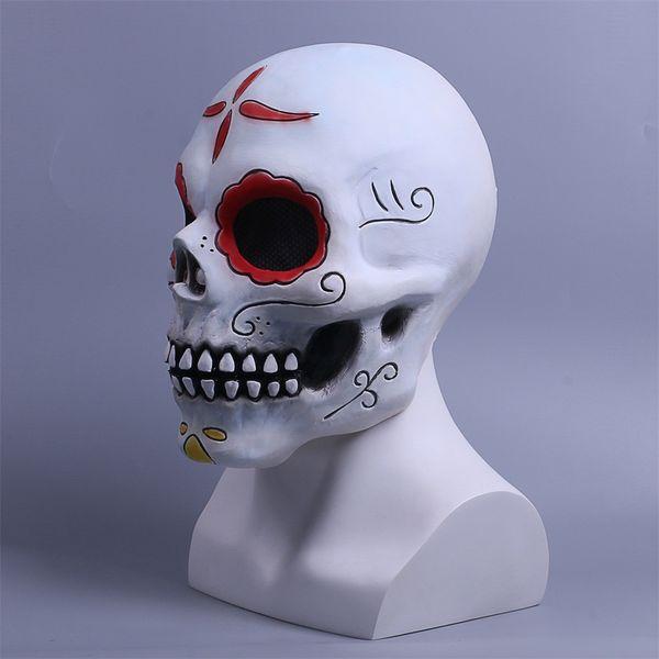 2018 Vente Chaude Jour des Morts Masque Cosplay Déguisement Halloween Masque Crâne Horreur Effrayant Masque