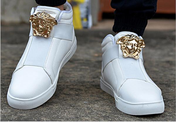 Mode neue Marke Medusa Metall Persönlichkeit Männer Rock Casual Tanzschuhe komfortable High Top Sportschuhe Männer Laufschuhe Zapatos Trainer