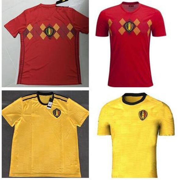 2018 World Cup Belgium Soccer Jersey 2018 red LUKAKU FELLAINI E.HAZARD KOMPANY DE BRUYNE 18 19 Long Sleeve Men Women Belgium football shirt