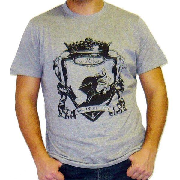 CAMISETA HOMME CAMISETA MANCHES CORTES TENDANCIA POLI GRIS Moda Hombres Camiseta Envío Gratis