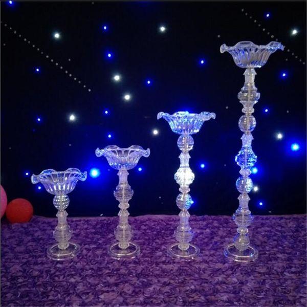 Vasi acrilici Matrimonio Centrotavola Fiori squisita Festa di fiori Fiori porta piombo per la decorazione domestica