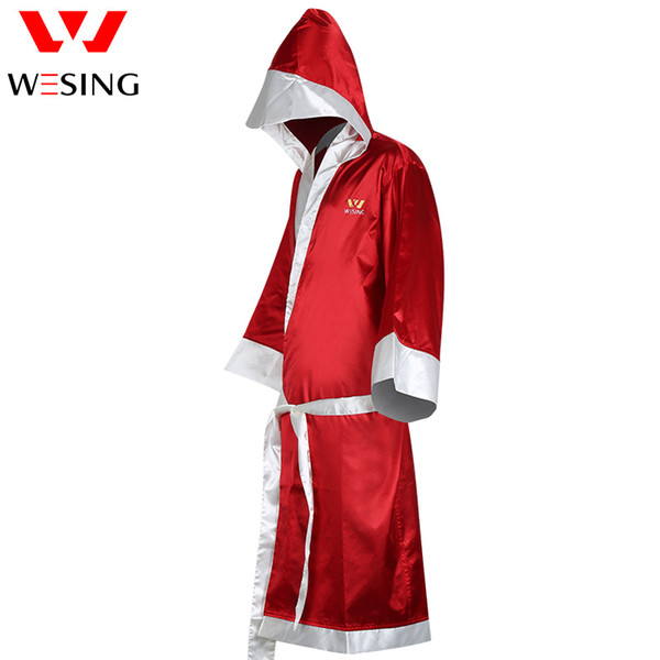 best selling wesing Boxing Robe with hood Boxing robe for men and women made of satin