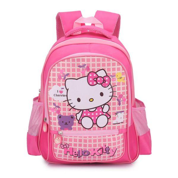 92b70f5651 hello kitty Children backpack girls Kindergarten Children School Bags  Cartoon bow tie Baby Girl School Backpack Cute KT bags