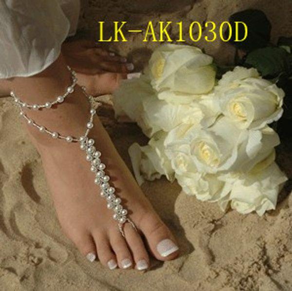 NEW HANDMADE beach wedding barefoot sandals,Elastic bridal foot jewelry VARIOUS COLORS dress up your feet 30pcs/lot