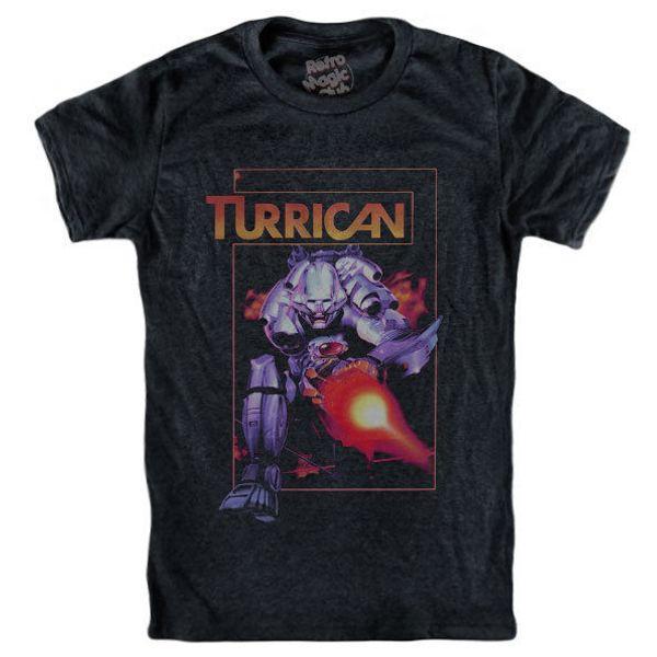 T-shirt TURRICAN Commodore 64 Nes Snes Gameboy