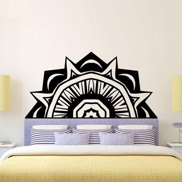 Großhandel Mandala Verzieren Die Betten Wand Aufkleber Wandbild Lotus Boho  Poster Schlafzimmer Böhmen Indien Böhmen Yaga Vinyl Aufkleber Wohnzimmer ...