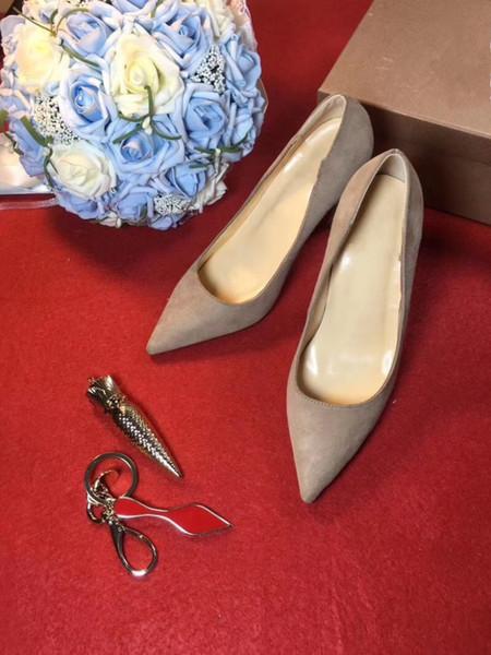 80392017 nuevos súper zapatos de tacón alto con una boca delgada OL solos zapatos Sexy 12cm color desnudo banquete zapatos de mujer