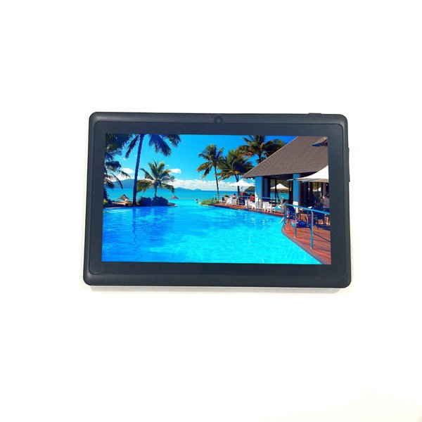 Quad-Core Processor 512MB RAM 8GB ROM 7 Inch Wifi Tablets 1024x600 Dual Cameras Micro USB TF Card Tablet PC Android